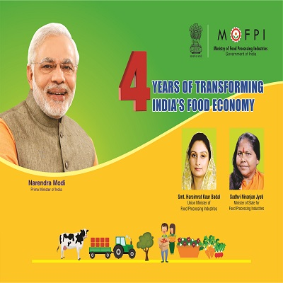 Ministry of Food Processing Industries' booklet on 4 years achievements designed by Airads.